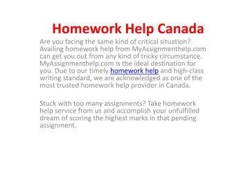 Homework Help Online in Canada