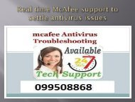 Real time McAfee support to settle antivirus issues