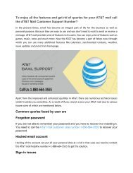 To enjoy all the features and get rid of queries for your AT&T mail call 1-888-664-3555
