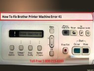 How To Fix Brother Printer Machine Error 41?1-800-213-8289