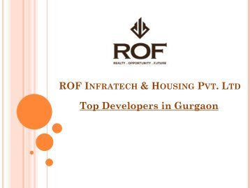 Top Developers in Gurgaon - ROF Infratech