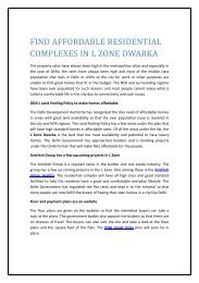 FIND AFFORDABLE RESIDENTIAL COMPLEXES IN L ZONE DWARKA