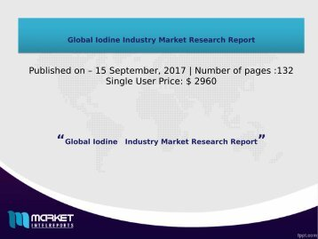Global Iodine Industry Market Research Report