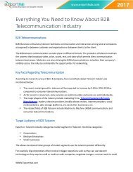 Everything You Need to Know About B2B Telecommunication Industry