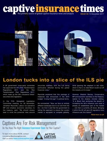 Captive Insurance Times issue 138