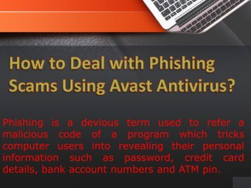 How to Deal with Phishing Scams Using   Avast Antivirus?