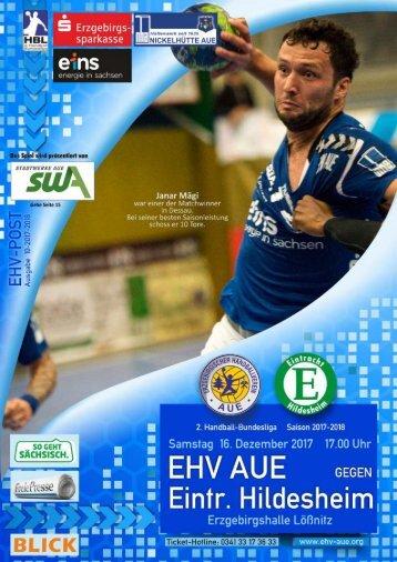EHV Post: EHV Aue gegen Eintracht Hildesheim
