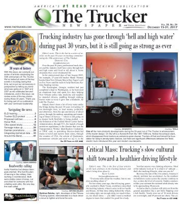 The Trucker Newspaper - December 15, 2017