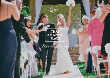 That Amazing Place_Wedding Brochure DEC 2017