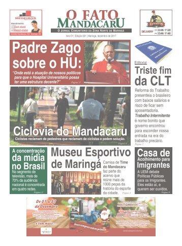 O FATO MANDACARU - JAN 2018 -  NÚMERO 1