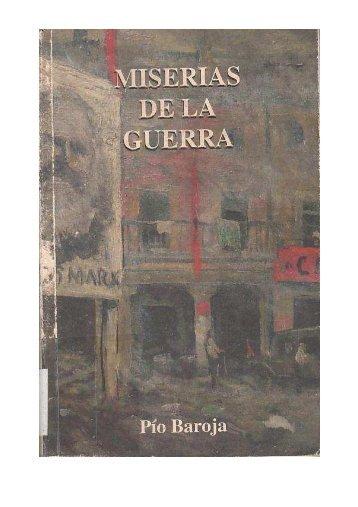 Pio Baroja - Las miserias de la guerra