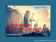 Construction Industry Mailing List