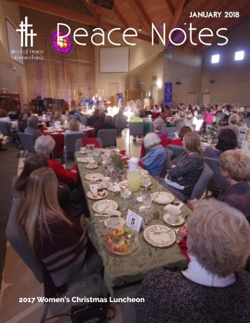 Peace Notes January 2018 - Word of Peace Lutheran Church