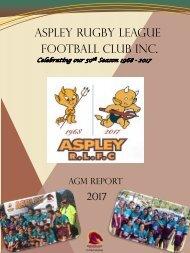 2017 Aspley Annual Report - (No Financials)