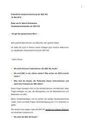Rede Dr. Bernd Schlobohm - QSC