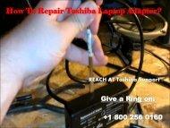 Repair Toshiba Laptop Adapter