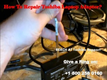 Repair Toshiba Laptop Adapter