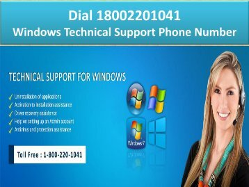 1-8002201041 Windows Technical Support Phone Number