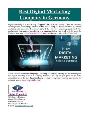 Best Digital Marketing Company in Germany