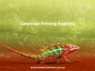 Corporate Printing Australia - Chameleon Print Group