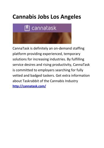 6 Cannabis Jobs Denver