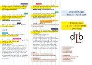 Programm der Deutschen Bibliothek Januar-April 2018