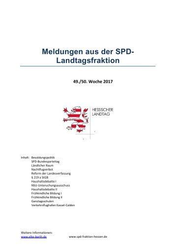 Meldungen aus der SPD-Landtagsfraktion (4)