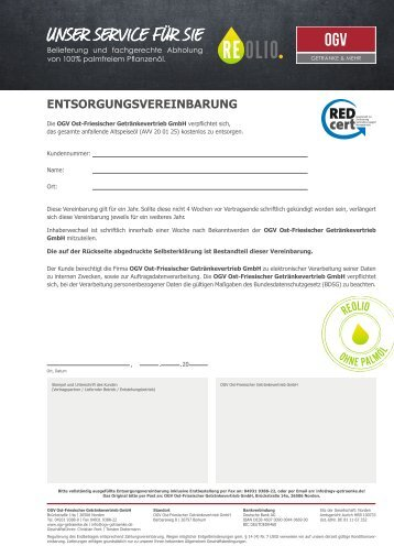 REOLIO Entsorgungsvereinbarung OGV – Version 1