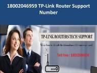 18002046959 TP-Link Router Support Number