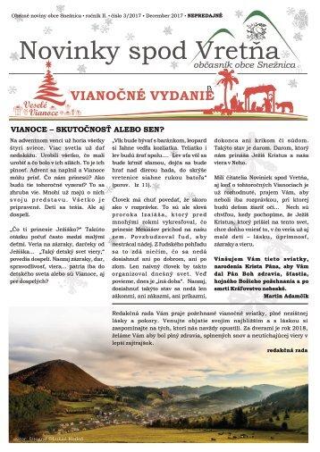 Novinky spod Vretňa 2017 - 3