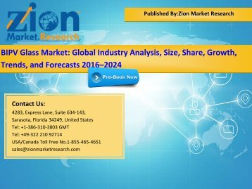 Global BIPV Glass Market, 2016–2024