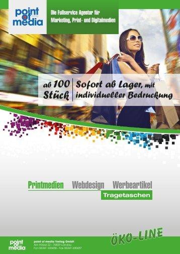 Tragetaschen-Ökoline-Prospekt 2018 - point of media Verlag