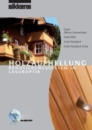 HOLZAUFHELLUNG - Sikkens