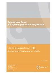 Erneuerbare Gase ‐ ein Systemupdate der Energiewende