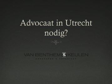 Advocaat utrecht -VBK