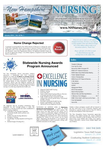 New Hampshire Nursing News - January 2018