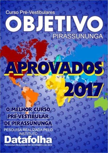 OBJETIVO PIRASSUNUNGA - APROVADOS 2017