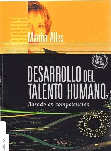 Desarrollo del talento humano basado en competencias - Martha Alles
