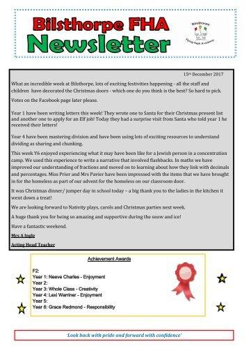 BFHA - Newsletter 11 15.12.17