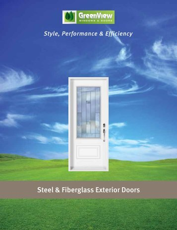 Steel & Fiberglass Exterior Doors - GreenView Windows & Doors