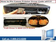 Fix Canon Printer Error Code u053 by 1-800-213-8289
