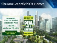 Shriram Greenfield O2 Homes Brochure