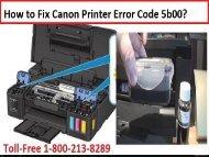 Fix Canon Printer Error Code 5b00 by 18002138289