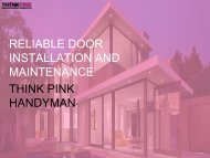 Door Installation in Melbourne - Think Pink Handyman