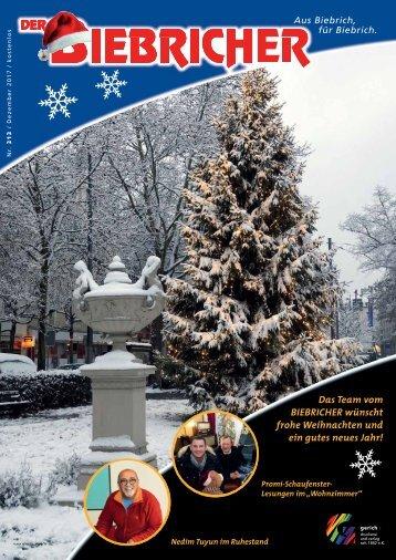 DER BIEBRICHER, Nr. 313, Dezember 2017