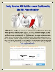 Resolve AOL Mail Password Problems