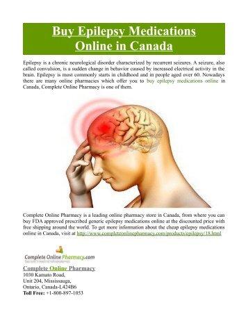 Buy Epilepsy Medications Online in Canada