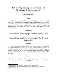 Extreme Programming: um novo conceito em Metodologia ... - GoJava