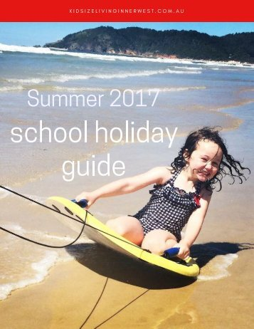 KIDsize Living Inner West Summer 2017 School Holiday Guide
