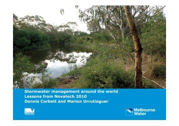 Stormwater management around the world Lessons from Novatech ...